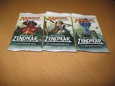3x Battle for Zendikar SEALED Booster Packs MtG Draft Magic the Gathering Cards