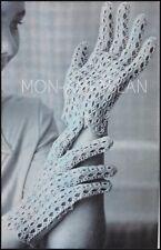 Vintage Crochet Pattern • LADIES LACY WRIST GLOVES • Pretty Dainty • Accessories