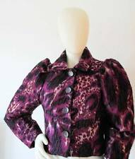 New Genuine Vintage style Mulberry short leopard printed Jacket Size 10 US 6