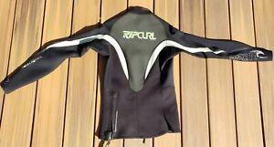 Rip Curl Mens (Size L) Dawn Patrol 1.5 mm L/S Jacket Wetsuit Black/Green