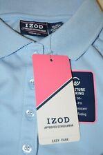 Girls Uniform Izod Shirt SizeS/P 7/8 Light Blue New With Tags