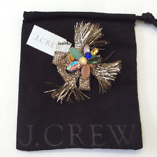 J. Crew Crystal Pin NWT AUTHENTIC With Pouch