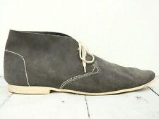 HUGO BOSS ☘ Stiefel Herren Schuhe Gr. 45,5 (12) Leder Grau Boots Shoes