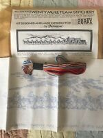 UNUSED VINTAGE 1972 20 MULE TEAM BORAX EMBROIDERY IN ORIGINAL MAILER BY PARAGON