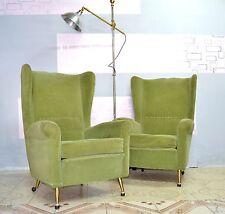 Coppia poltrone velluto anni 50 design stile Gio Ponti Paolo Buffa armchairs 50