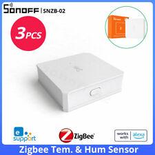 SONOFF SNZB-02 Zigbee Temperature Humidity Sensor Smart Home Remotel Monitor 3pc