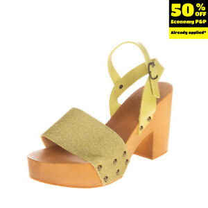 RRP €115 ANTIDOTI Leather Clog Sandals EU 39 UK 6 US 9 Glitter Made in Italy