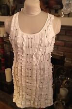 MUR MUR NWT Chained Chains TUNIC TANK TOP SEXY - WHITE -SMALL