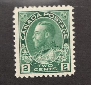 #107  -  Canada -  1922  -  2 Cent  -  MH  - F/VF -  superfleas