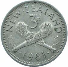 COIN / NEW ZEALAND / THREEPENCE 3D 1961 ELIZABETH II.     #WT17368