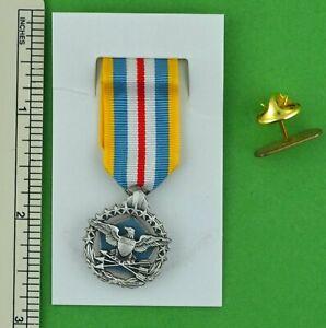 Defense Superior Service Miniature Medal and Holder Bar - USA made mini medal