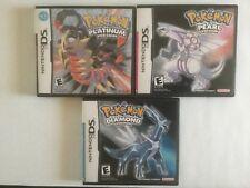 Pokemon Diamond, Pearl, Platinum Game Cases - Nintendo DS- *NO GAME*