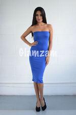 Vestiti da donna blu in misto cotone party