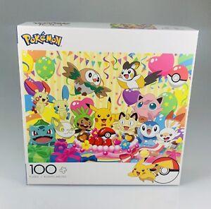 NEW Pokemon Birthday Party 100 Pieces Puzzle Jigsaw SEALED Buffalo Family Game