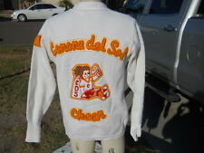 Vintage  EAST-TENN LETTERMAN High School Cheerleader Patches SWEATER SIZE 40