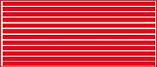 3/16 INCH (.1875) VINYL PEEL STICK HO SCALE STRIPES STRIPE RED DECALS