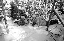 Negativ-6.Armee-Schnee-Tarn-camo-MG-Schützen-Wehrmacht-Front-unterstand-graben