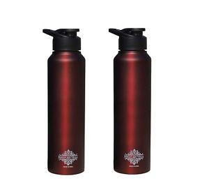 Stainless Steel Bottle Sipper Cap Wine Matt 1000 ML, Set of 2
