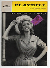 Invitation To A March Music Box Theatre Playbill 1961 NYC Jane Fonda Sondheim VG