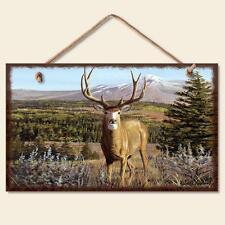 Novelty-Fun Wood Sign-WILDLIFE Plaque---MULE DEER