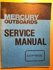 1979 Mercury 3.6 HP Outboard Motor Service Manual