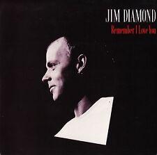 "JIM DIAMOND remember i love you/rock 'n' roll AM 247 uk a&m 1985 7"" PS EX/VG+"