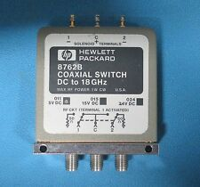 HP Agilent 8762B Coaxial Switch, DC to 18 GHz, SPDT Option 011