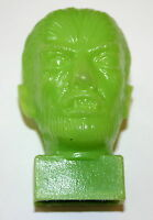 Vintage Plastic Pencil Sharpener Wolfman Monster Figure Green 1960s Nos New