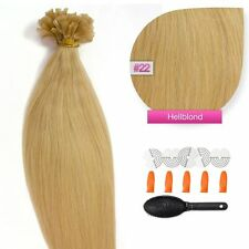 Keratin Bonding #22 Hellblond Hair Extensions 100% Echthaar Haarverlängerung