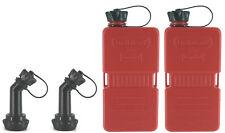 2x FUELFRIEND-PLUS 1,5 Liter Mini-Reservekanister + Füllrohr verschließbar