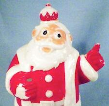 King Santa Bank Christmas Decoration Fannie Farmer Vintage Plastic 1950s As Is
