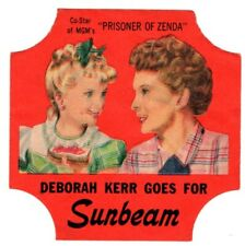 Sunbeam - MOVIE STARS - Bread End Label - Little Miss Sunshine - DEBORAH KERR