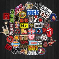 52 stücke Retro Rock Band Musik Aufkleber Für Gitarre Koffer Skateboard DIY