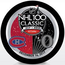 2017 NHL 100 Classic Dueling Hockey Puck Montreal Canadiens vs Ottawa Senators