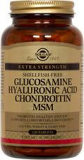 Solgar Glucosamine Hyaluronic Acid Chondroitin MSM Shellfish-Free 120 Tablets