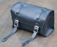Black Leather Bike TOOL BOX BAG Vintage Schwinn Cruiser Bicycle Saddle Road Seat