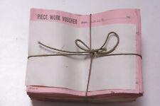 Oct 27 1932 Lamson Goodnow Piece Work Voucher Maunfacturing Pay Ephemera E13B