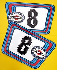 VINTAGE style Classic Car MARTINI RACE NUMBERS Ideal for PORSCHE ASTON JAGUAR