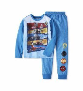 Avengers Infinity War Boys 2pc Pajama Top w/Fleece Pants Marvel Endgame Size 4-5