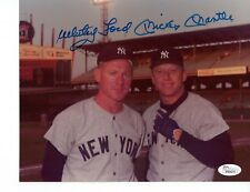 Mickey Mantle & Whitey Ford Autographed 8x10 at Comiskey Park - JSA