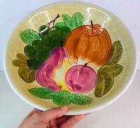 "Vintage Handpainted Fruit Ceramic 12"" Round Serving Dish Platter Bowl from Japan"