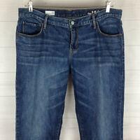 GAP KOKO womens size 32 TALL blue medium wash 100% cotton SEXY BOYFRIEND jeans