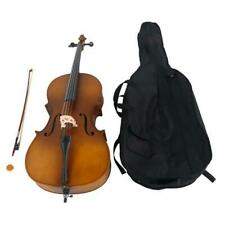 More details for 4/4 maple basswood acoustic cello set with bow +rosin+case+bag for adults