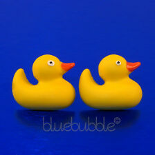 FUNKY RUBBER DUCKY EARRINGS CUTE KITSCH NOVELTY FUN TOY SWEET COOL KAWAII DUCK