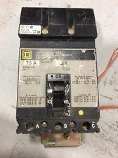Square D I Line Circuit Breaker Fc34070G 70 Amp 480 Volt 3 Pole Shunt Trip