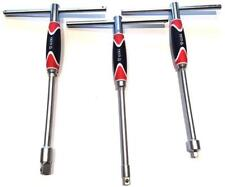 "Yato professional T handle socket adapters set 3 pcs; 1/2"", 1/4"" & 3/8"