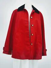 Lauren Ralph Lauren Red Coat Jacket with Equestrian Print Lining   Size Small
