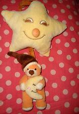 I # Doudou peluche musicale ours marron orange lune etoile GIPSY 29cm