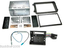 VOLKSWAGEN VW POLP 2009-2014 BLACK DOUBLE  DIN STEREO FITTING KIT FACIA PANEL