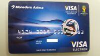 MEXICO - VISA - EXPIRED - BANK CARD - AZTECA BANK - FOOTBALL FIFA WORLD CUP -